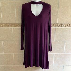 Express Eggplant purple choker dress